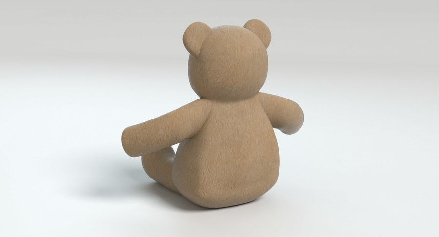 Stuffed Animal Bear royalty-free 3d model - Preview no. 7