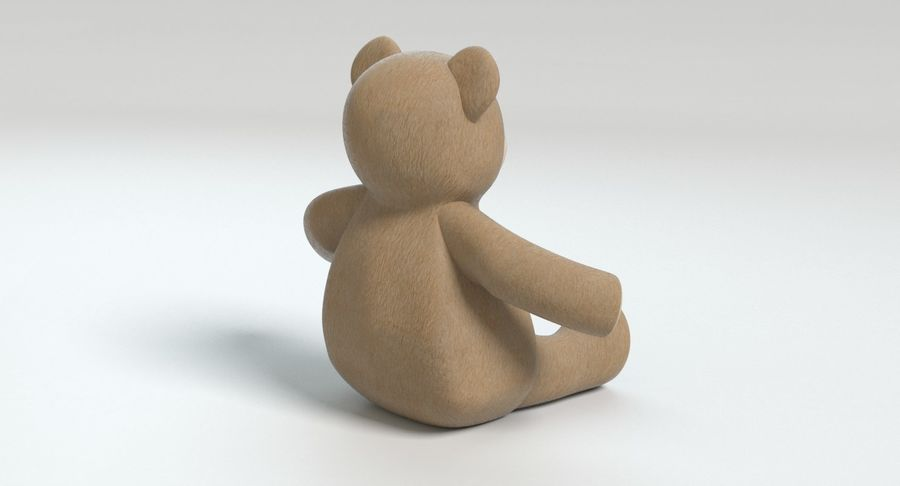 Stuffed Animal Bear royalty-free 3d model - Preview no. 6