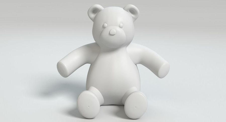 Stuffed Animal Bear royalty-free 3d model - Preview no. 10