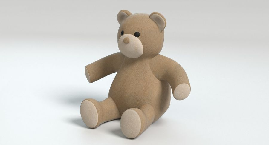 Stuffed Animal Bear royalty-free 3d model - Preview no. 9