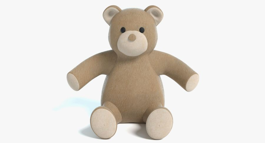 Stuffed Animal Bear royalty-free 3d model - Preview no. 2