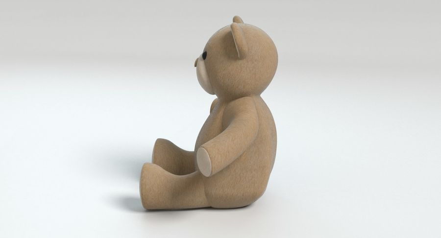 Stuffed Animal Bear royalty-free 3d model - Preview no. 8
