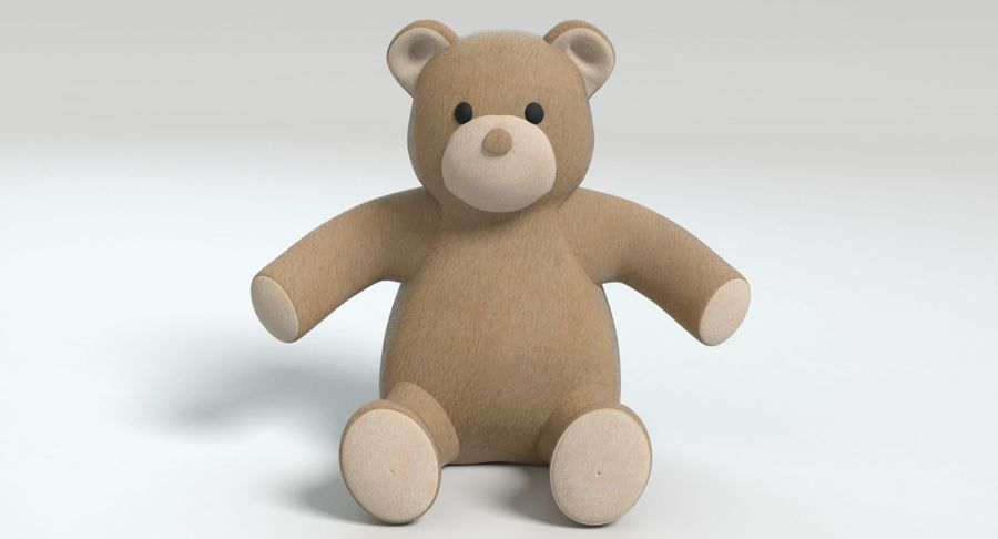 Stuffed Animal Bear royalty-free 3d model - Preview no. 3