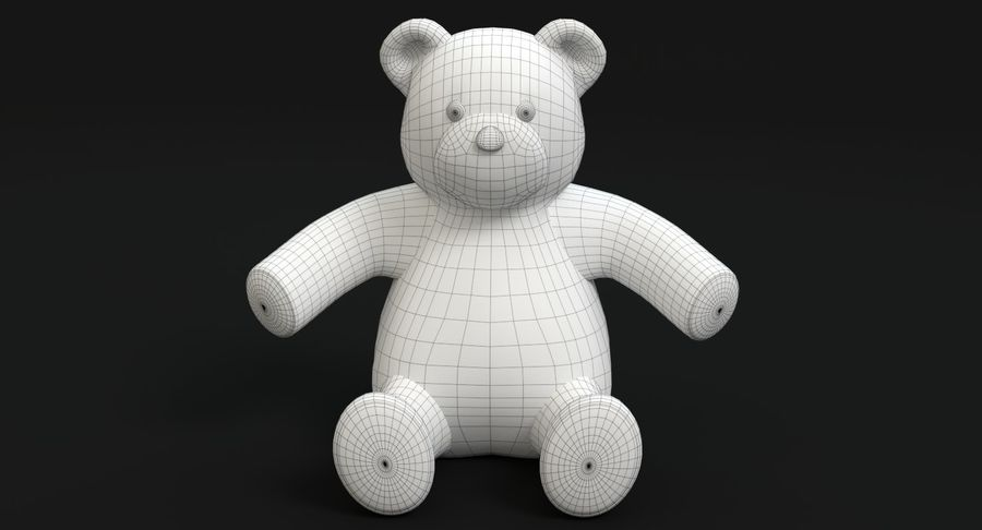 Stuffed Animal Bear royalty-free 3d model - Preview no. 11