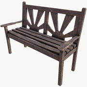 Old Bench PBR Low Poly 3d model