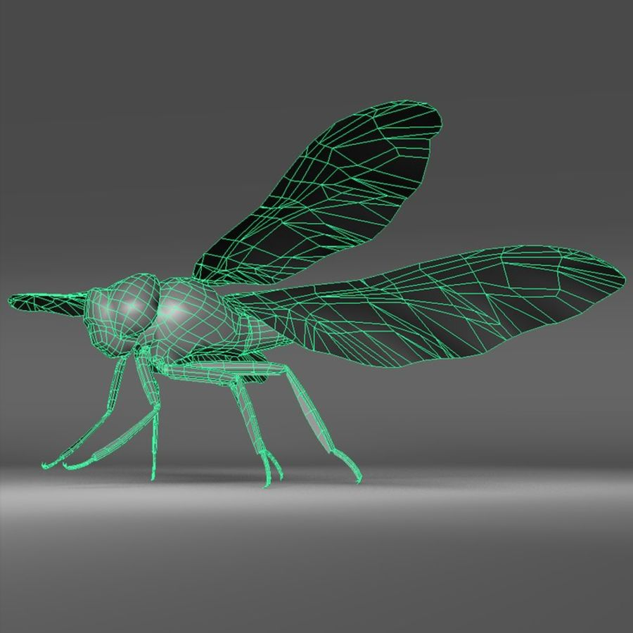 Dragon Fly royalty-free 3d model - Preview no. 2