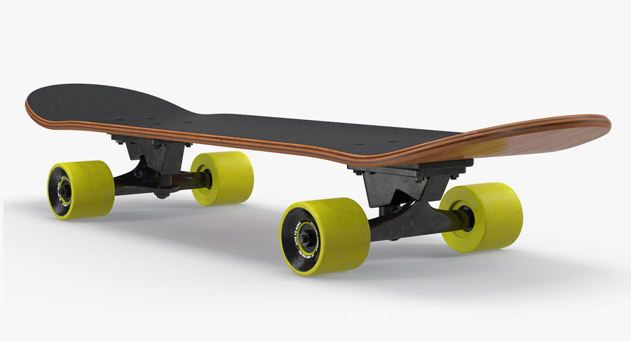 Klassisches Skateboard generisch royalty-free 3d model - Preview no. 4