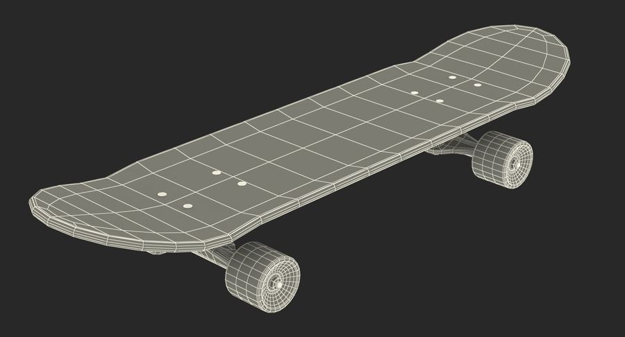 Klassisches Skateboard generisch royalty-free 3d model - Preview no. 14
