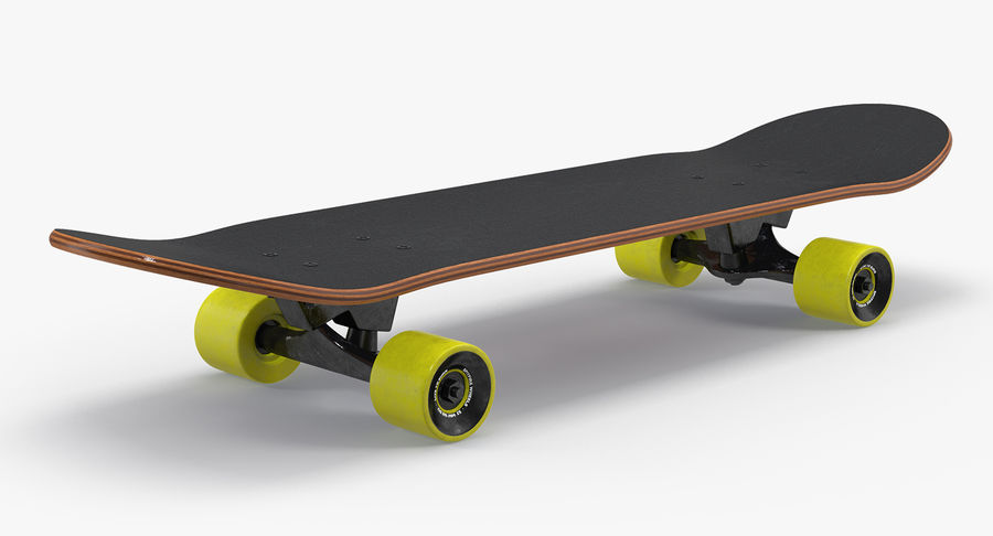 Klassisches Skateboard generisch royalty-free 3d model - Preview no. 2