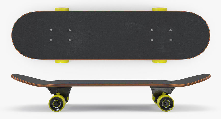 Klassisches Skateboard generisch royalty-free 3d model - Preview no. 3