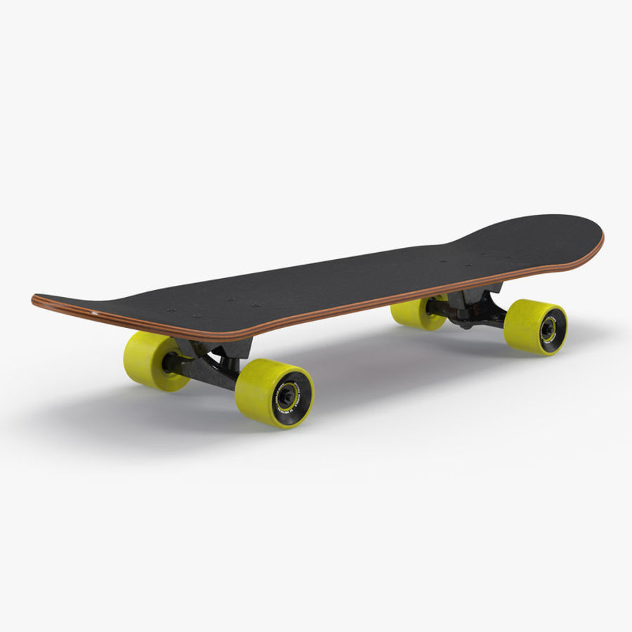 Klassisches Skateboard generisch royalty-free 3d model - Preview no. 1