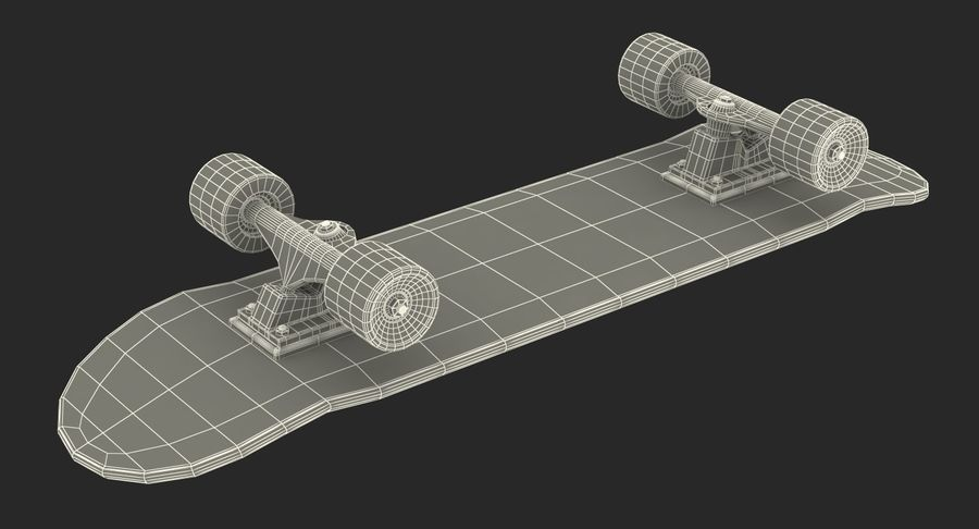 Klassisches Skateboard generisch royalty-free 3d model - Preview no. 16