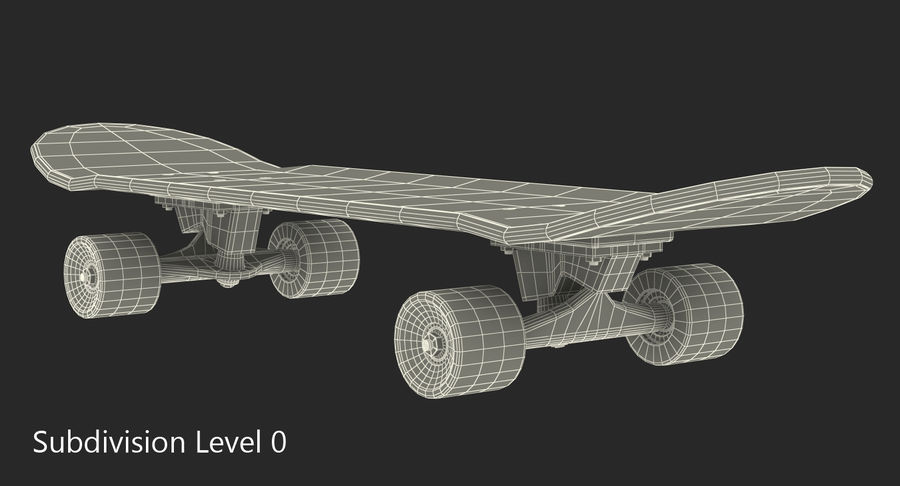Klassisches Skateboard generisch royalty-free 3d model - Preview no. 7
