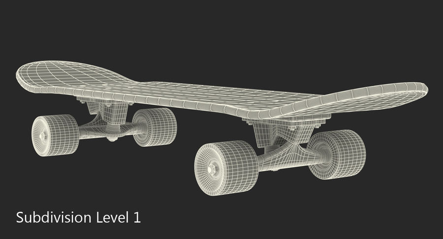 Klassisches Skateboard generisch royalty-free 3d model - Preview no. 8