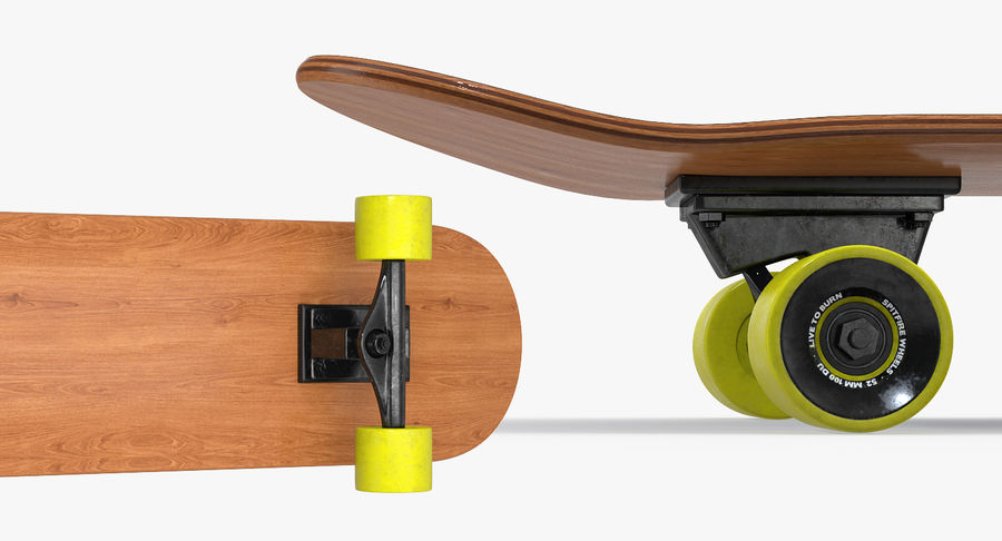 Klassisches Skateboard generisch royalty-free 3d model - Preview no. 6