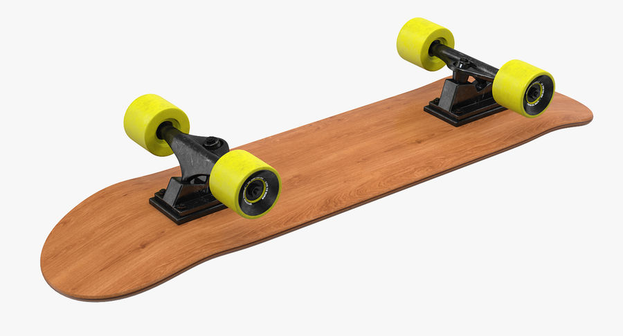 Klassisches Skateboard generisch royalty-free 3d model - Preview no. 5