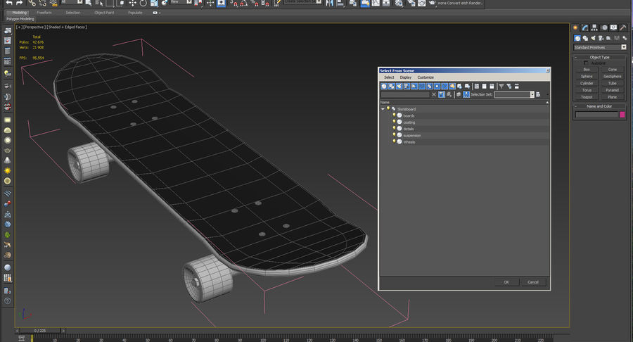 Klassisches Skateboard generisch royalty-free 3d model - Preview no. 13
