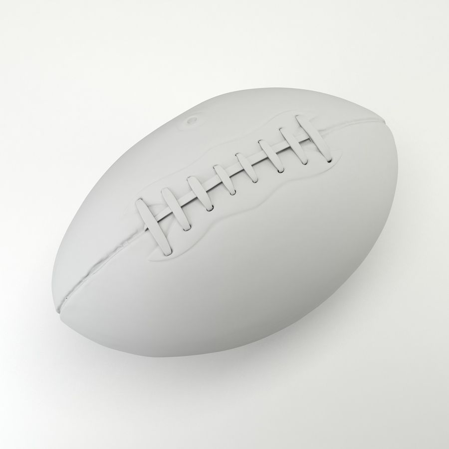 Vintage American Football Ball royalty-free 3d model - Preview no. 10