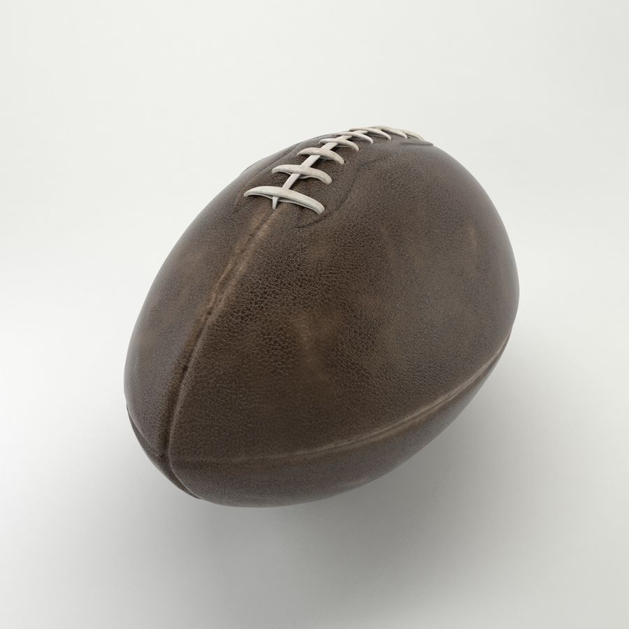 Vintage American Football Ball royalty-free 3d model - Preview no. 4