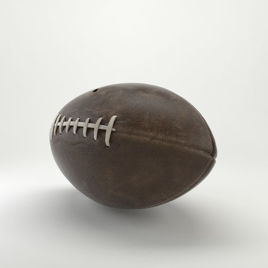 Vintage American Football Ball royalty-free 3d model - Preview no. 6