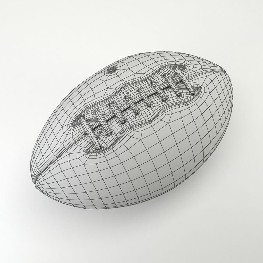 Vintage American Football Ball royalty-free 3d model - Preview no. 8