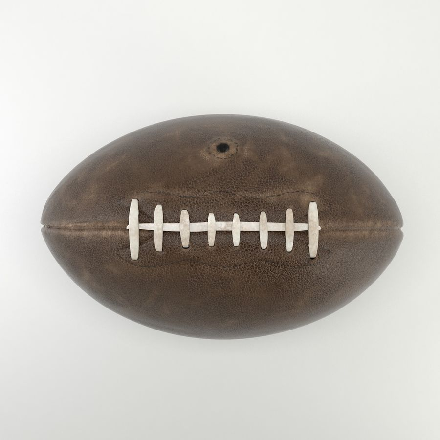 Vintage American Football Ball royalty-free 3d model - Preview no. 3