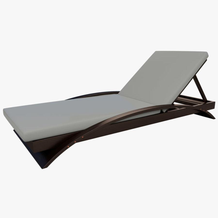 chaise longue piscine 3d