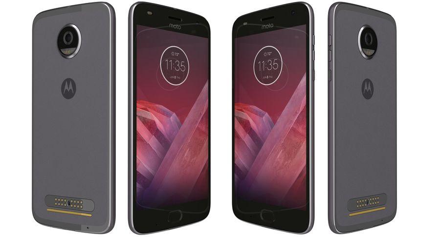 Motorola Moto Z2 Play Lunar Gray royalty-free 3d model - Preview no. 6