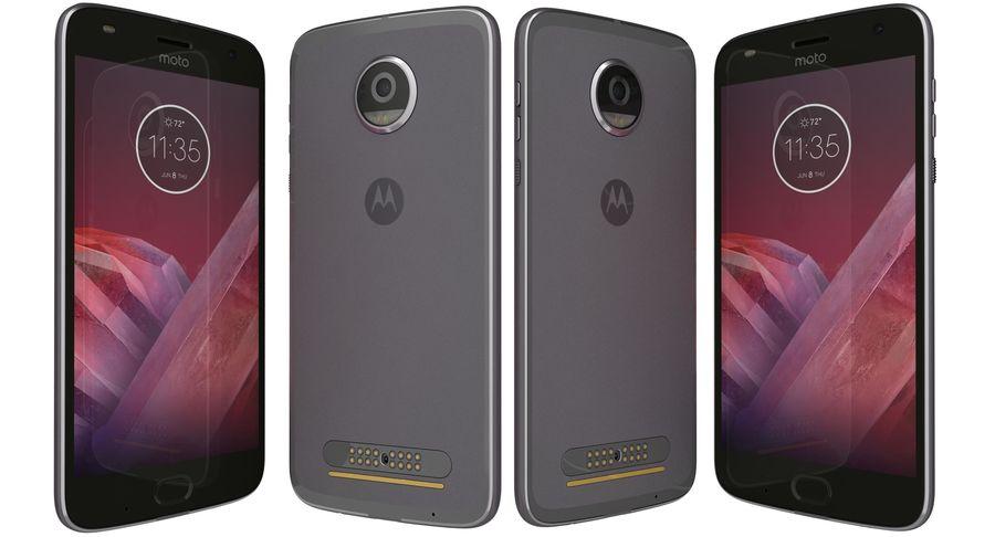 Motorola Moto Z2 Play Lunar Gray royalty-free 3d model - Preview no. 3
