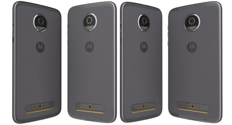 Motorola Moto Z2 Play Lunar Gray royalty-free 3d model - Preview no. 4