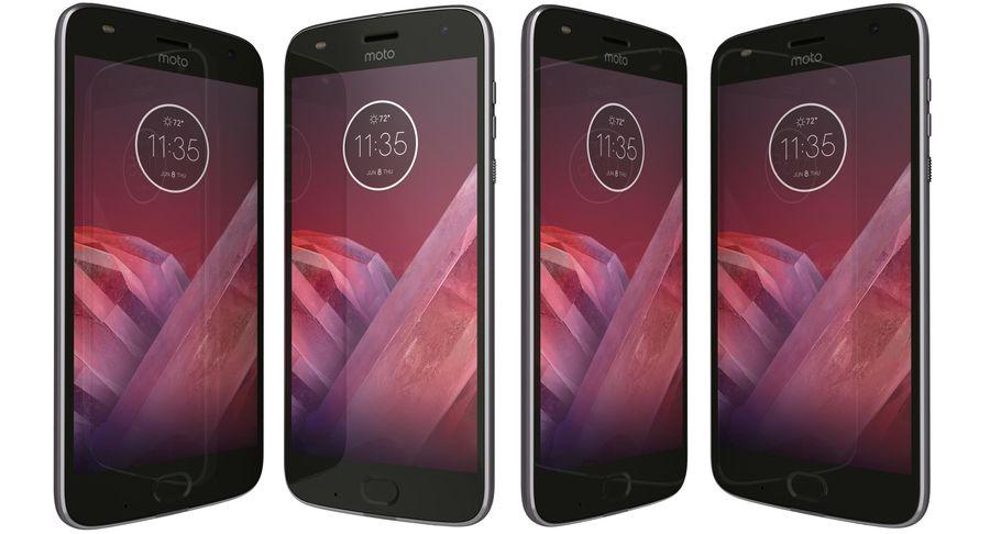 Motorola Moto Z2 Play Lunar Gray royalty-free 3d model - Preview no. 2