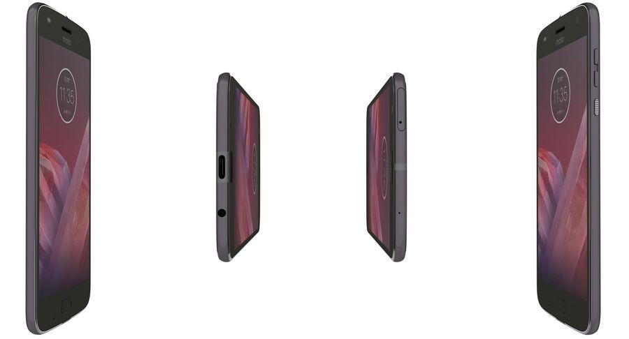 Motorola Moto Z2 Play Lunar Gray royalty-free 3d model - Preview no. 11