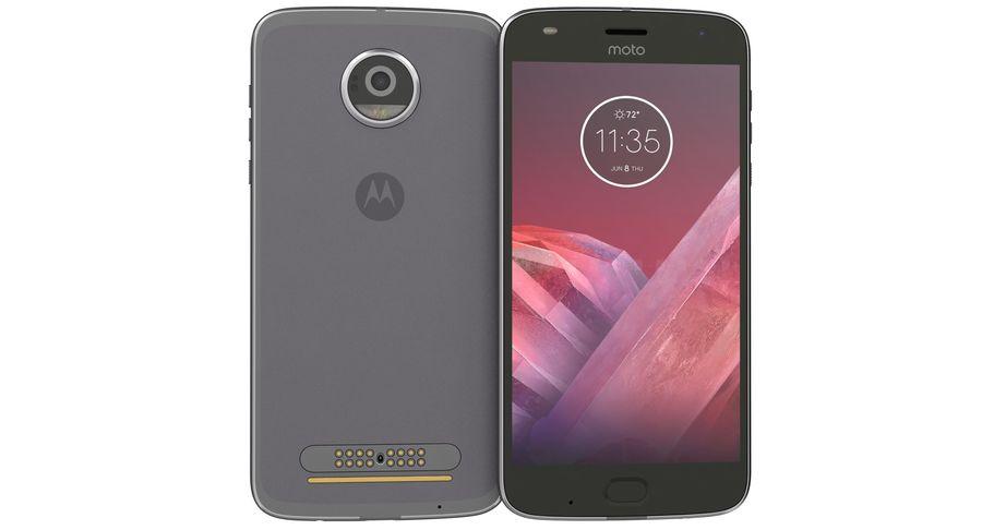 Motorola Moto Z2 Play Lunar Gray royalty-free 3d model - Preview no. 7
