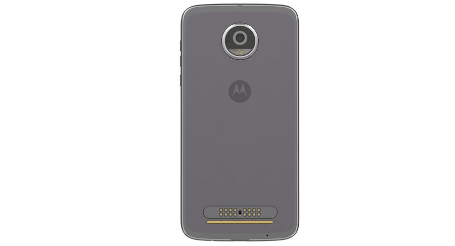 Motorola Moto Z2 Play Lunar Gray royalty-free 3d model - Preview no. 10