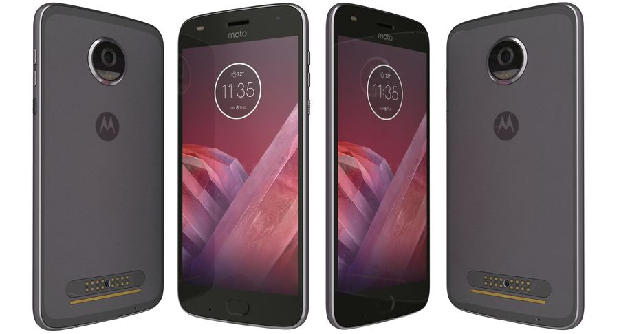 Motorola Moto Z2 Play Lunar Gray royalty-free 3d model - Preview no. 1