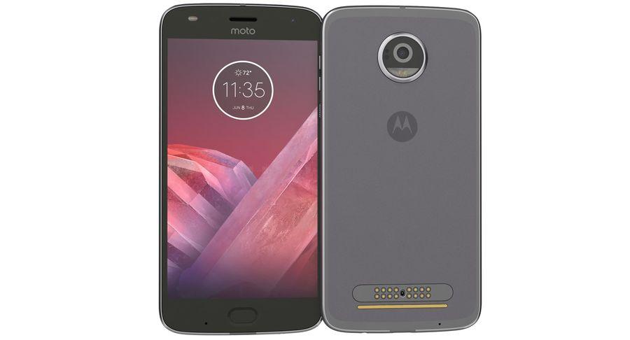 Motorola Moto Z2 Play Lunar Gray royalty-free 3d model - Preview no. 8