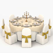 Banquet Table 03 3d model
