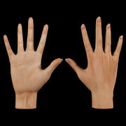 Low poly Female hand 3d model