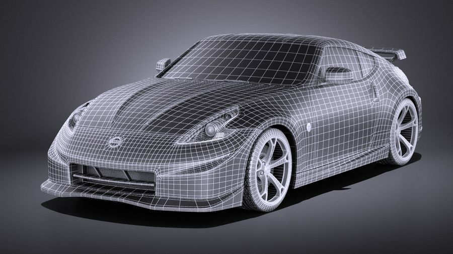 Nissan 370z Nismo 2014 VRAY royalty-free 3d model - Preview no. 15