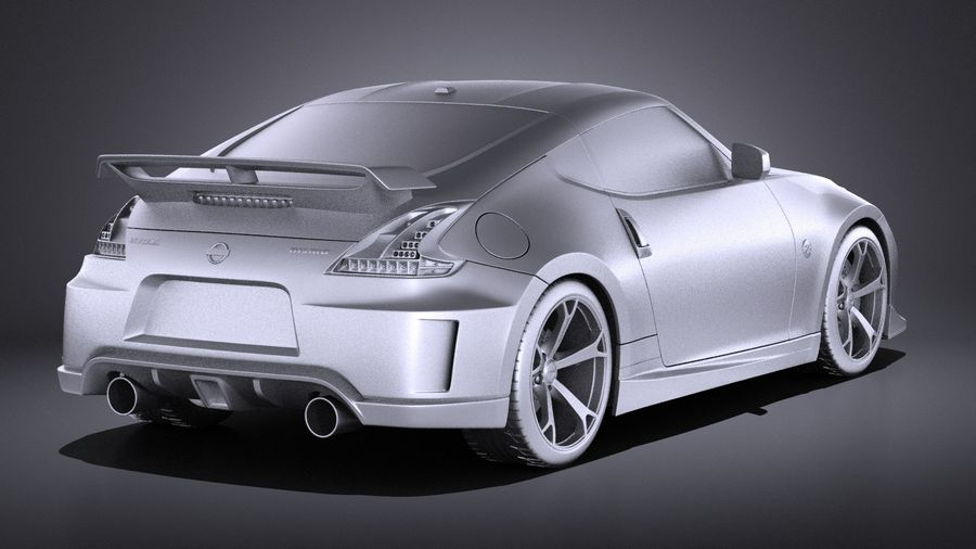 Nissan 370z Nismo 2014 VRAY royalty-free 3d model - Preview no. 12