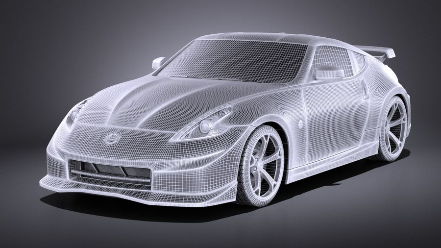 Nissan 370z Nismo 2014 VRAY royalty-free 3d model - Preview no. 13