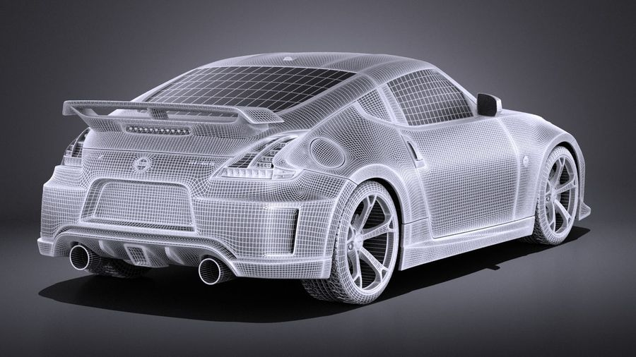 Nissan 370z Nismo 2014 VRAY royalty-free 3d model - Preview no. 14