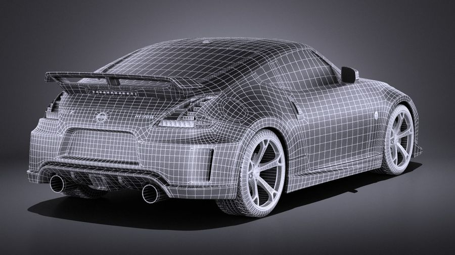 Nissan 370z Nismo 2014 VRAY royalty-free 3d model - Preview no. 16