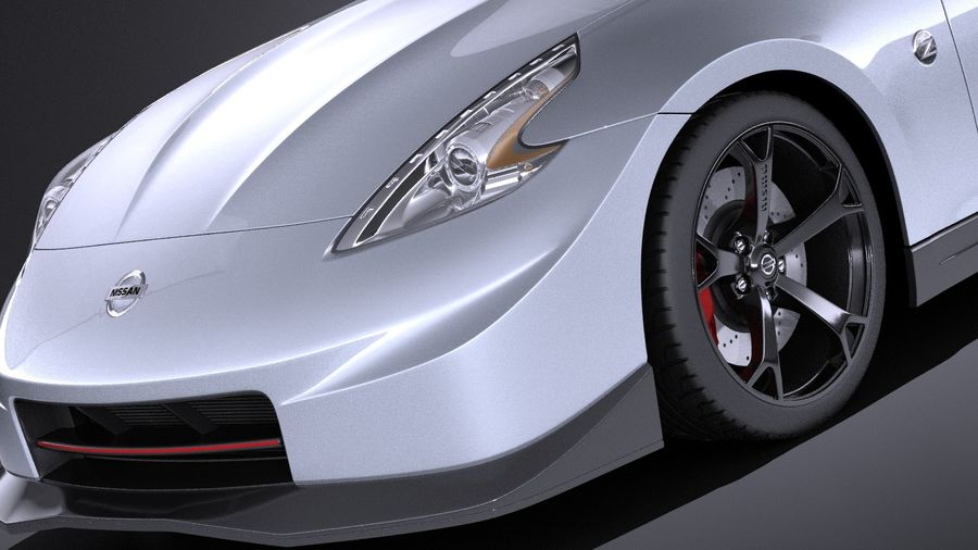 Nissan 370z Nismo 2014 VRAY royalty-free 3d model - Preview no. 3
