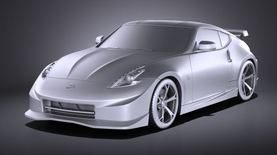 Nissan 370z Nismo 2014 VRAY royalty-free 3d model - Preview no. 9