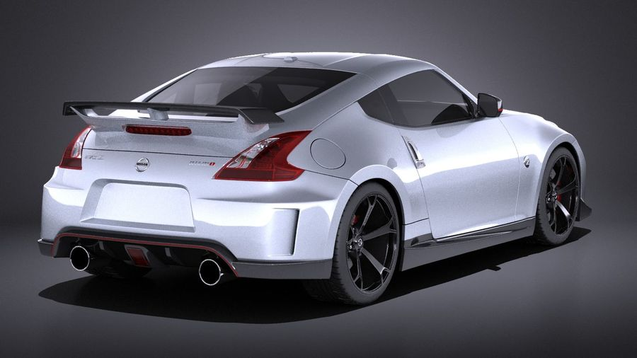 Nissan 370z Nismo 2014 VRAY royalty-free 3d model - Preview no. 6