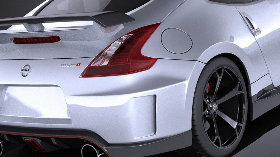 Nissan 370z Nismo 2014 VRAY royalty-free 3d model - Preview no. 4