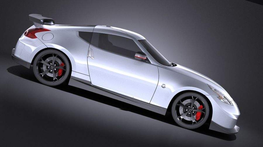 Nissan 370z Nismo 2014 VRAY royalty-free 3d model - Preview no. 7