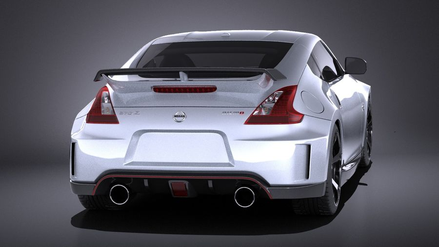 Nissan 370z Nismo 2014 VRAY royalty-free 3d model - Preview no. 5