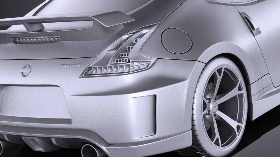 Nissan 370z Nismo 2014 VRAY royalty-free 3d model - Preview no. 11